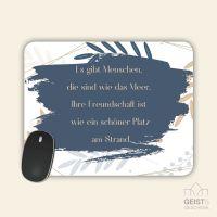 Mousepad bedruckt Freundschaft Geist und Geschenk