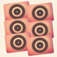 Bedrucktes 6-teiliges Tischset Mandala Mood Geist und Geschenk