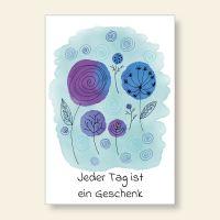 Grußkartenset bedruckt 'Jeder Tag ist ein Geschenk' Geist und Geschenk