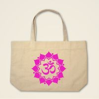 OM-Mandala Stofftasche Stoffebutel bedruckt pink