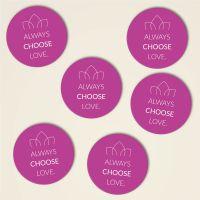 Always choose love untersetzer kork bedruckt bestellen