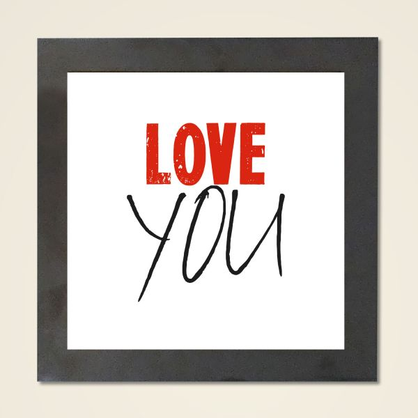Wandbild 'Love you' quadr.