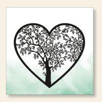 Bedrucktes Grußkarten- Set  quadratisch Lebensbaum Geist und Geschenk