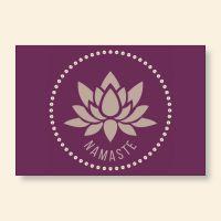 Grußkartenset bedruckt 'Namaste II' Geist und Geschenk
