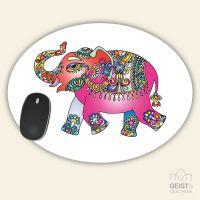 Mousepad Oval Elefant Geist und Geschenk