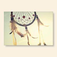 Bedrucktes Grußkarten- Set Traumfänger II Geist und Geschenk