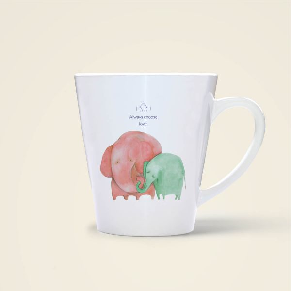 Always choose love elefant tiermotiv aquarell Tasse bedruckt online bestellen l rot gruen