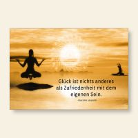 Grußkarten Glück ist Zufriedenheit Yoga Geist und Geschenk