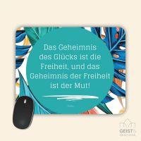 Mousepad bedruckt Das Geheimnis des Glücks Geist und Geschenk