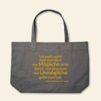 Boatshape Stofftasche bedruckt Spruch Zitat Goethe Grau 3