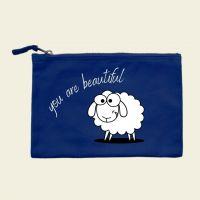 Kosmetiktasche bedruckt Canvas Schaf You are Beautiful Geist und Geschenk