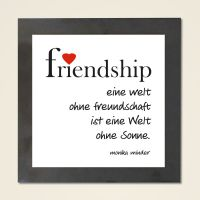 Wandbild 'Friendship' quadrat