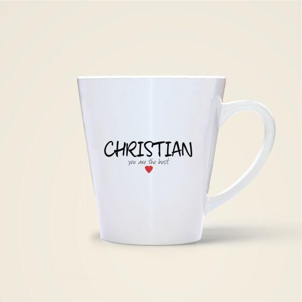 bedruckte Namenstasse Geist und Geschenk shop Christian