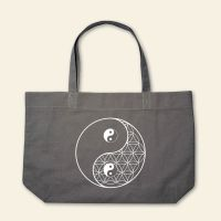 Boatshape Stofftasche 'Blume des Lebens Yin Yang'