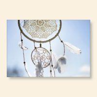 Bedrucktes Grußkarten- Set Traumfänger VI Geist und Geschenk