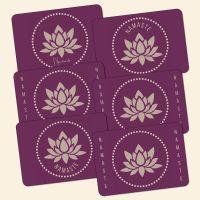Bedrucktes 6-teiliges Tischset Namaste-Mix  Geist und Geschenk
