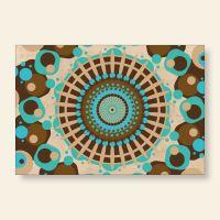 Bedrucktes Grußkarten- Set Mandala Retro Geist und Geschenk
