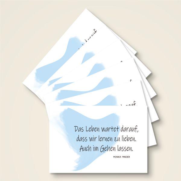 Grusskarten Set 'Lernen zu lieben'