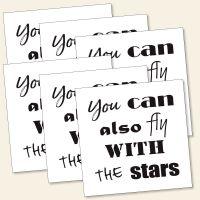 Grußkarten Monika Minder fly with the stars spruch zitat