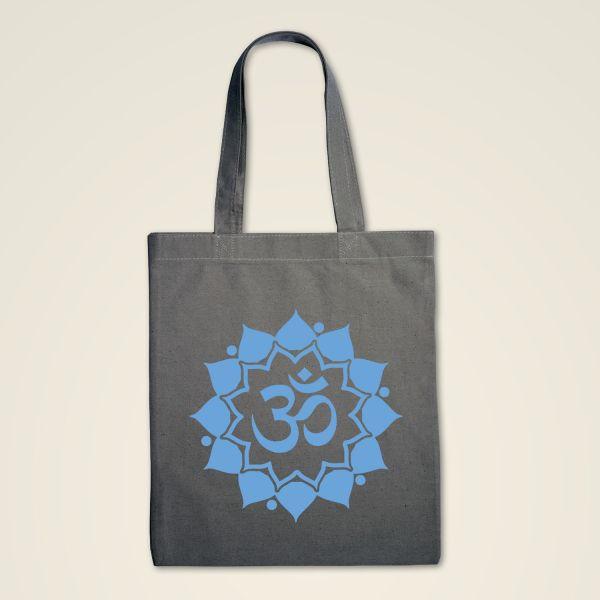 Stofftasche grau 'Om Mandala'