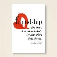 Grusskarten Set 'Friendship'