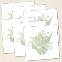 Grusskarten Set Moij Design geist und geschenk quadratisch kranich