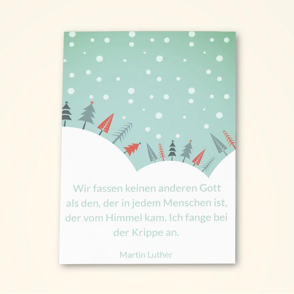 Grusskarten Set Weisheit von Martin Luther