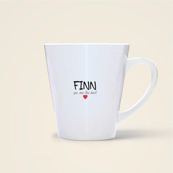 bedruckte Namenstasse Geist und Geschenk shop Finn