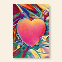 Grußkartenset Colorful Heart Geist und Geschenk