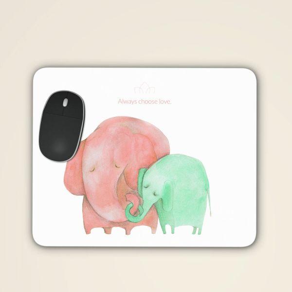 Bedrucktes Mousepad sicher online bestellen 'Always choose love' aquarell motiv rot