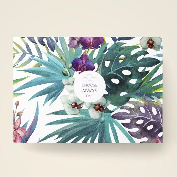 Grusskarten Set 'Choose always love' Floral-Design