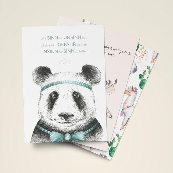 Grusskarten Set 'Humoristische Sprüchesammlung'