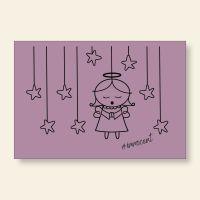 Grußkartenset bedruckt Angel Innocent Violet Geist und Geschenk