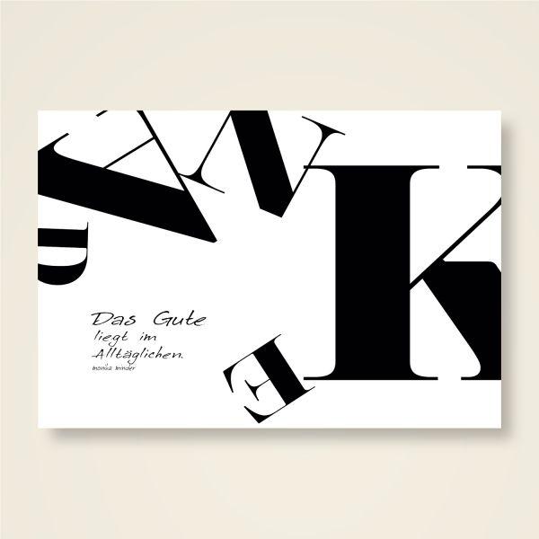 Grusskarten Set 'Danke Sprüche'