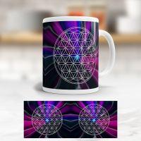 Tasse der Blume des Lebens 'Mondzentrum'