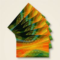 Grußkarten Postkarten Blume des Lebens Flower of Life  Spektrum Geist und Geschenk