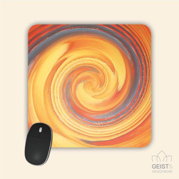 Mousepad Energiebilder 'Erblühen' - 19x19cm