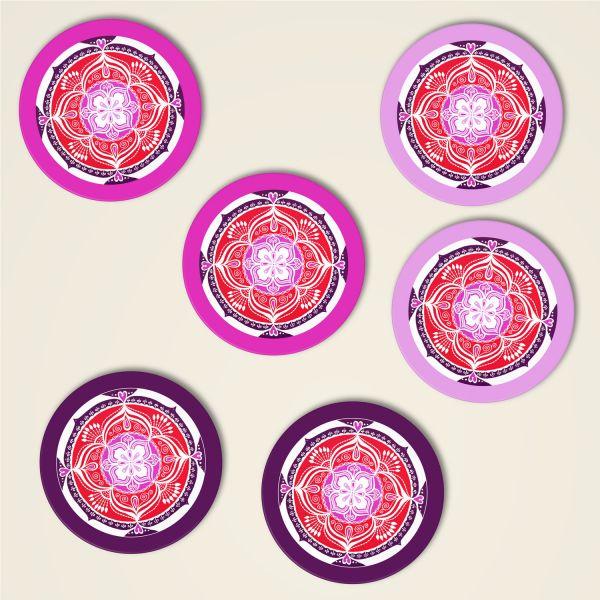 Mandala Untersetzer Love 7