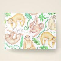 Grusskarten  Set 'Ich fühle das Tier in mir.. Es ist ein Faultier'