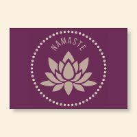 Grußkartenset bedruckt 'Namaste V' Geist und Geschenk
