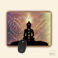 Mousepad bedruckt Yoga Chakra Geist und Geschenk