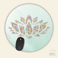 Mousepad rund Lotus Geist und Geschenk