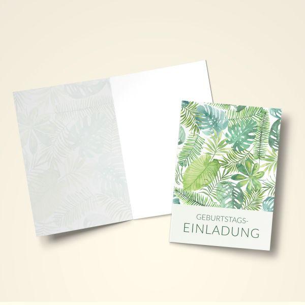 Einladungskarten Set 'Blätter'