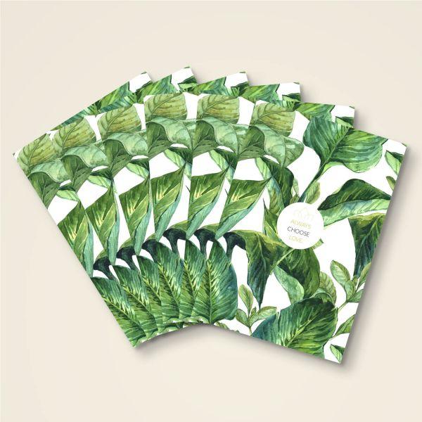 Always choose love grusskarten set postkarte klebepunkte