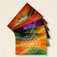 Postkarten Grußkarten Blume des Lebens Flower of Life Happiness Geist und Geschenk
