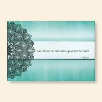 Grußkartenset Mandala Zitat Platon  Das Denken ist das Selbstgespräch der Seele Geist und Geschenk