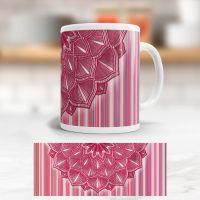 Bedruckte Tasse Mandala Berry klassische Form Geist und Geschenk