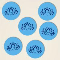 dreiblatt untersetzer bedruckt kork motiv herz lotus 4