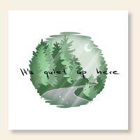 Grußkarten-Set 'It's quiet up here'