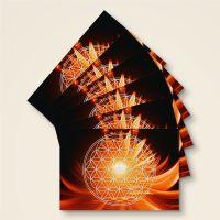 Grußkarten Postkarten Blume des Lebens Flower of Life  Tag Geist und Geschenk
